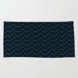 Blue circles Beach Towel