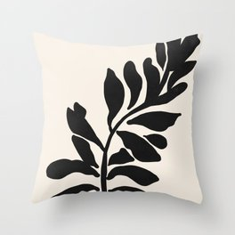 Single stem - night Throw Pillow