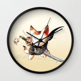 Lucky Ninja Wall Clock
