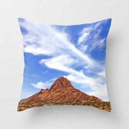 Landscape near Spitzkoppe, Namibia Throw Pillow
