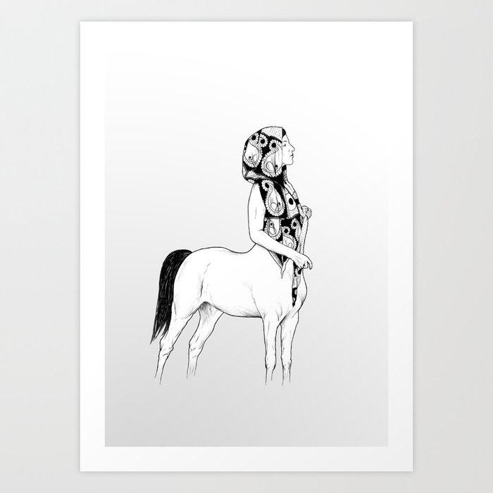 horses for courses I Art Print