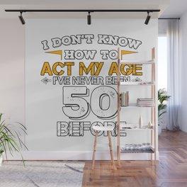 Birthday Gift 50 Years Fifty Born 1968 Wall Mural