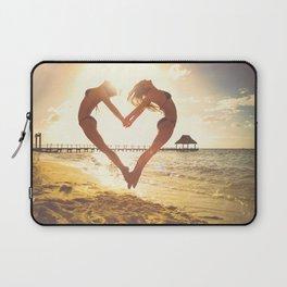 heart beach holiday 5 Laptop Sleeve