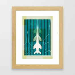 Missiles at dawn... in green! Framed Art Print