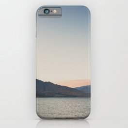 sunset over the lake ... iPhone Case