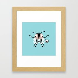 Hug? - Every creature needs love #008 Framed Art Print