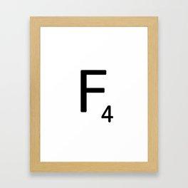 Letter F - Custom Scrabble Letter Tile Art - Scrabble F Framed Art Print