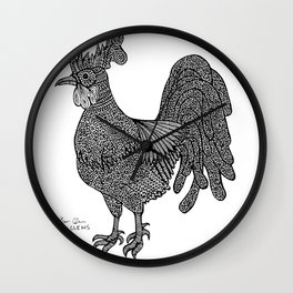 Rooster Doodle Doo Wall Clock