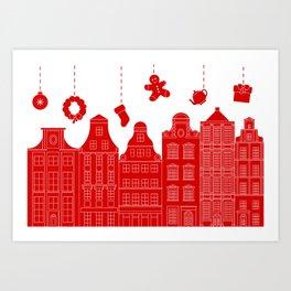 Very Merry Christmas Street Art Print