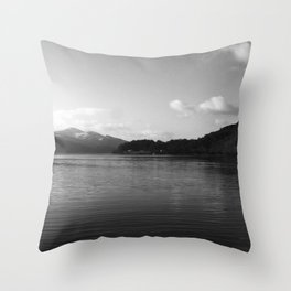 View on the Loch Throw Pillow