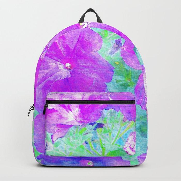 Watercolor Petunias Backpack
