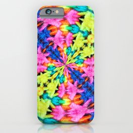 Crazy Rays Digital Crochet Yarn Kaleidoscope iPhone Case