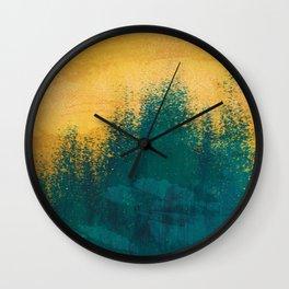 Gold Rush Peacock Wall Clock