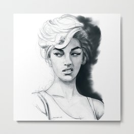 Face disgusted Metal Print