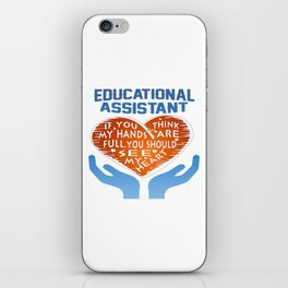 Educational Assistant iPhone Skin
