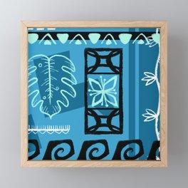 Hawaiian Pattern #1 - aqua! Framed Mini Art Print