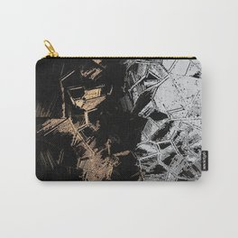 Gold and Silver Crystals Carry-All Pouch