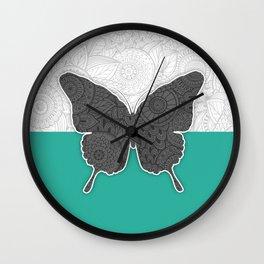 Dance of a Butterfly Wall Clock