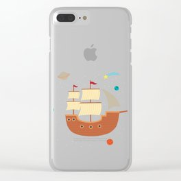 space-ship Clear iPhone Case