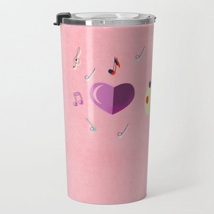 Valentine's Westie Dog in Love Travel Mug
