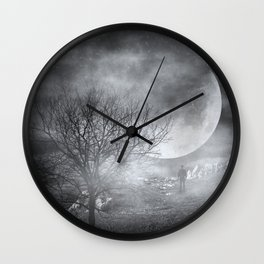 Dark Night Sky Paradox Wall Clock