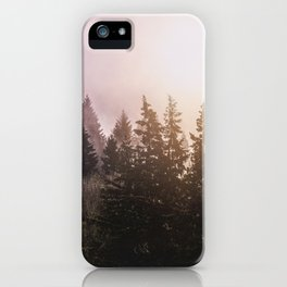 Magickal Mountain Forest Sunset iPhone Case