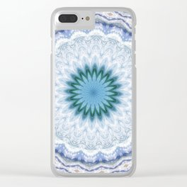 SUMMER BLUE - OCEAN AND SUNSHINE PATTERN Clear iPhone Case