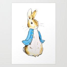 Peter Rabbit standing still Art Print