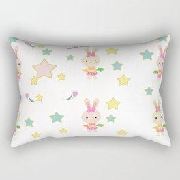 Kids cute cartoon bunny Rectangular Pillow