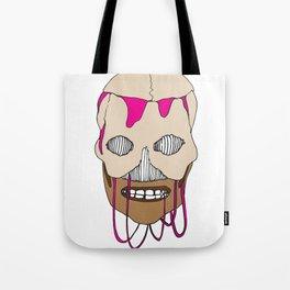 Skull Head Street Art Design Tote Bag
