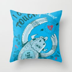 I can touch your heart Throw Pillow
