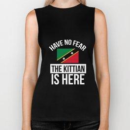 Kittian Here Saint Kitts and Nevis Pride Funny Flag Tshirt Biker Tank