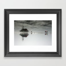 Dogs & Fog Framed Art Print