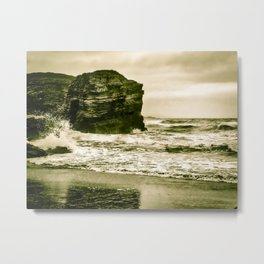 The Beach of the Cathedrals, Spain Metal Print