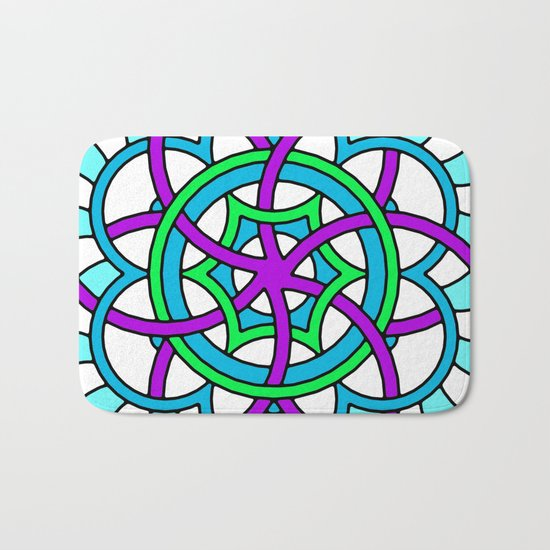 Celtic | Colorful | Mandala Bath Mat