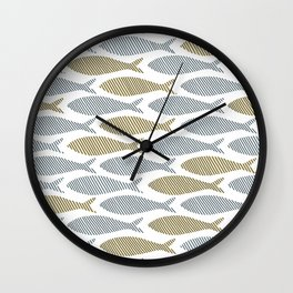 shoal of herring Wall Clock
