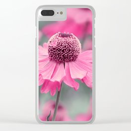 Rudbeckia pink 0150 Clear iPhone Case