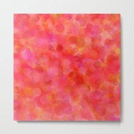 Red Fruit Punch Pattern Metal Print