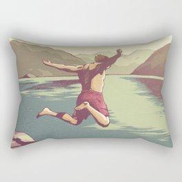 Summer Scenery - Cliff Jumping Rectangular Pillow