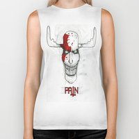 "pain Biker Tanks featuring ""Pain"" by Pastuv"