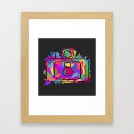 Colorful Camera Framed Art Print