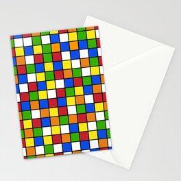 Rubik's cube Pattern Stationery Cards