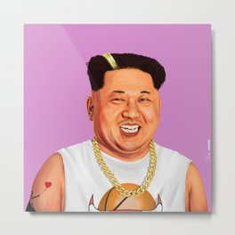 HIPSTORY - Kim Jong Un Metal Print