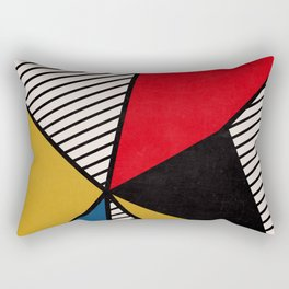 Primary Colors and Stripes Rectangular Pillow