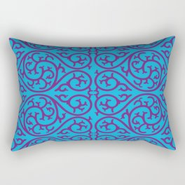 blue and purple design Rectangular Pillow