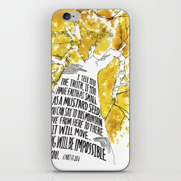 Mustard Seed Faith Tree - Matthew 17:20 iPhone Skin