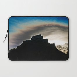 Silhouette of a Castle Laptop Sleeve
