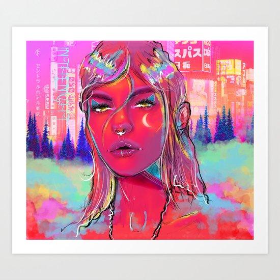 In The Night. Art Print