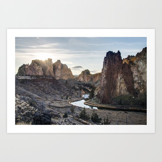 Smith Rocks - Oregon Art Print