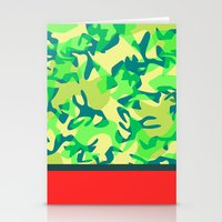 camo Stationery Cards featuring Camo by Ryan Ingram